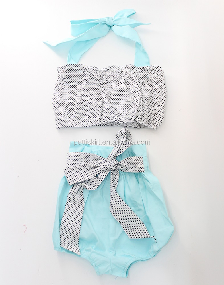 Baby bathing suit little girl swimwear polka dot outfit kids swimsuit