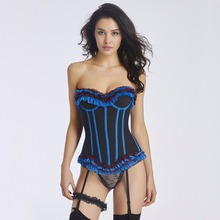 Women sexy waist slimming corset waist shaping corset with garter belt