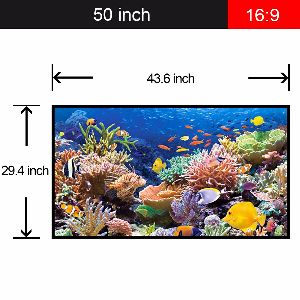 "50"" 4:3 hdmi projector screen roll up foldable table screen"
