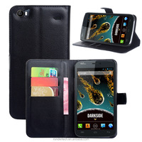 2016 Most popular Flip Stand PU Leather Wallet Case for Wiko Darkside Cover