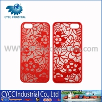 2015 New Style Wholesale Big Red Flower Design TPU Soft Case for iPhone 5