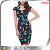 ladies office wear women sexy business suits indian dress design patterns kimono floral print short sleeve career dresses