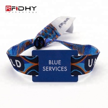 Custom One-off Festival Branded Embroidered Cloth Wristbands