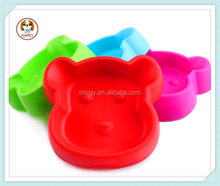 2015 Pet products Plastic anti-skid plastic dog face pet dogs face bowl Four color optional sell like hot cakes