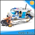Hot selling 188 pcs police building block creative intelligence building bricks toy for kids
