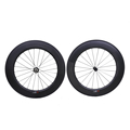 Wholesale 700c full carbon fiber road bike wheels clincher 88mm depth bicycle carbon wheel