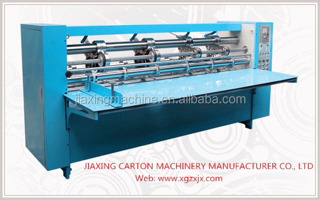 corrugated cardboard box slitting and scoring machine