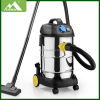 30L SOCKET high power stainless steel wet &dry vacuum cleaner 2015New item car vacuum cleaner