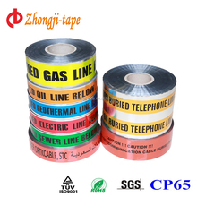 Underground detectable aluminium foil coated pe warning tape