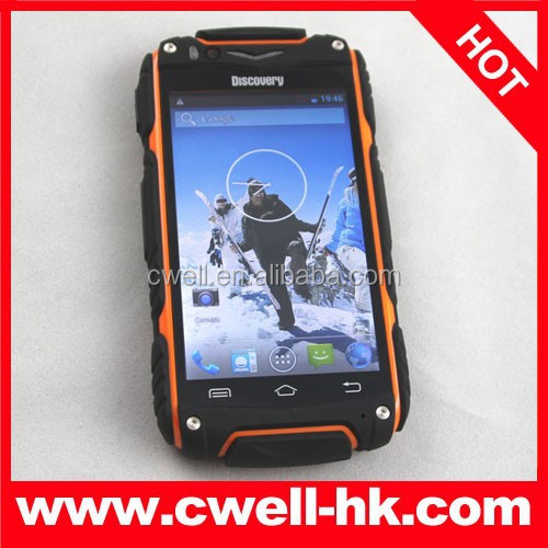 China Rugged Mobile Phone Dual core MTK6572 Discovery V8 Cheap Android 3G Smart Phones