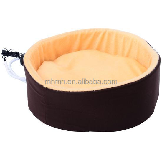"16"" Indoor Electric Heated Round Dog Pet Bed"