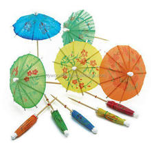Most Popular Food Grade Wood Party Food Picks Umbrella Picks