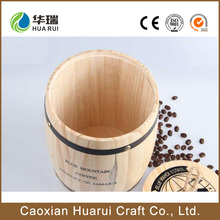 Wholesale cheap popular Mini wooden coffee beans barrels