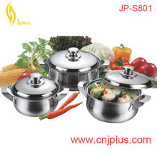 JPS-801 Popular 19pcs Royal Manufacture Stainless Steel Cookware Set With Case