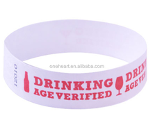Custom Fashionable and Disposable Tyvek Wristband for Bars Tickets Use