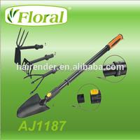 Exchangeable and replaceable head telescopic handle Garden Hand Tools