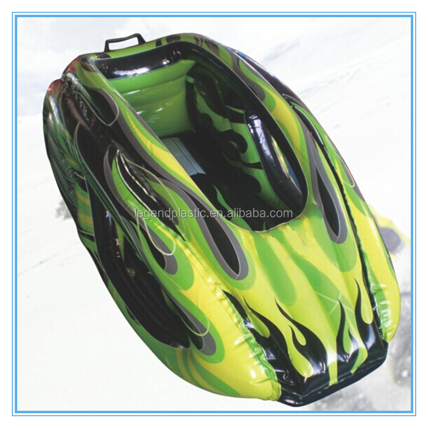 Inflatable air snow sled car, pvc snow sledge car