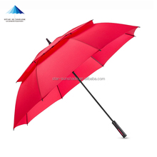 double canopy golf umbrella air vent wind proof luxury promotion umbrella