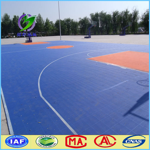 Suspended indoor and outdoor basketball court floor