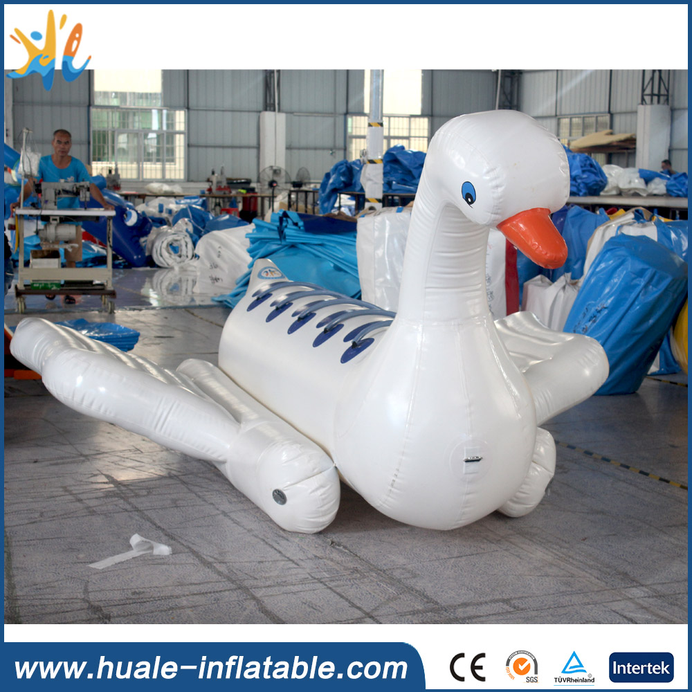 2016 new design inflatable floating toys , inflatable water boat , inflatable swan boat for sale