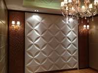 white 3D decorative steel panel for wall and ceiling