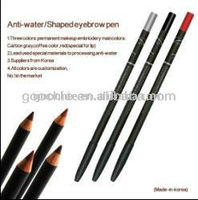 High quality Waterproof eyebrow/eyeliner/lip makeup pencil