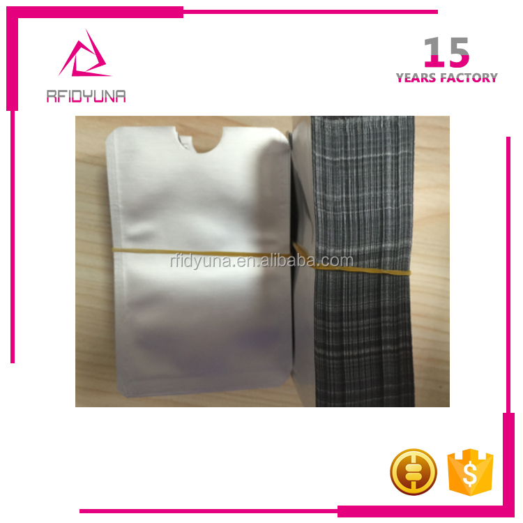 China Supplier Sales Low Price Aluminum Foil Credit Card Sleeve RFID Blocker