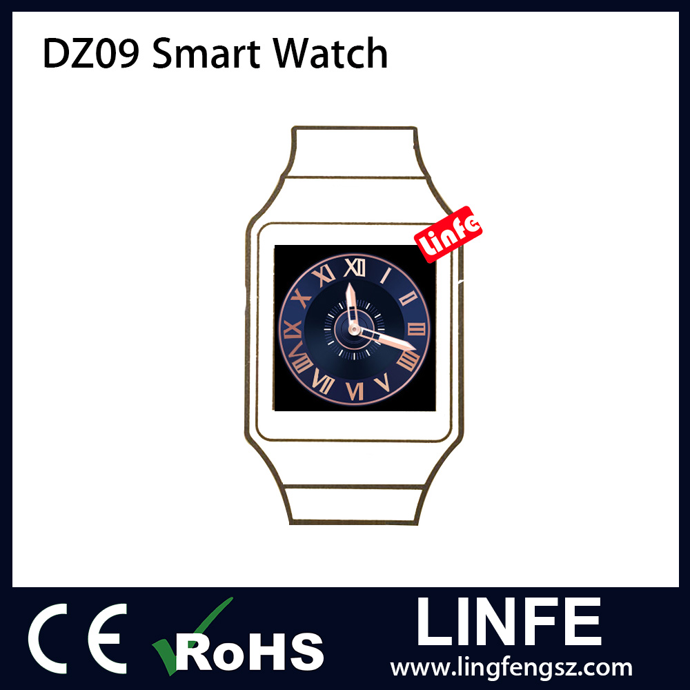 2016 China Factory Direct Android Smart Watch DZ09 Smartwatch Phone with Whatsapp, Facebook and Twitter