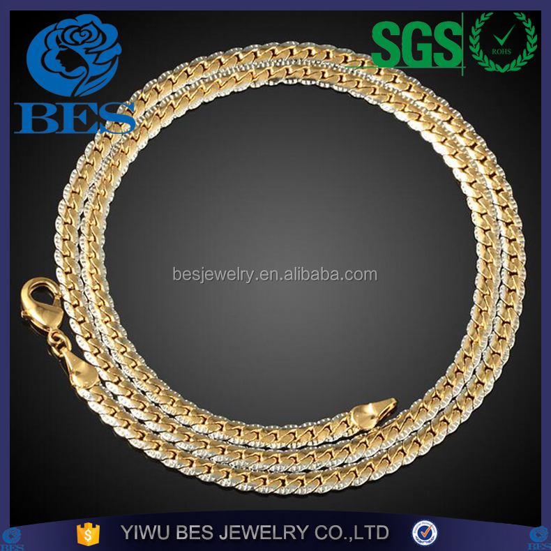 18K Vacuum Real Gold Plated Vintage Chain Men Jewelry Wholesale