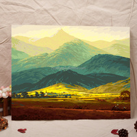 Gift canvas abstract acrylic painting frameless canvas mountain scenery oil painting