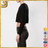Black fashion knitted cotton short women sweaters