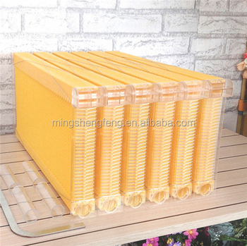 7Pcs Auto Flow Bee Comb Beehive Frames with 7 Harvest Tubes and a Harvest
