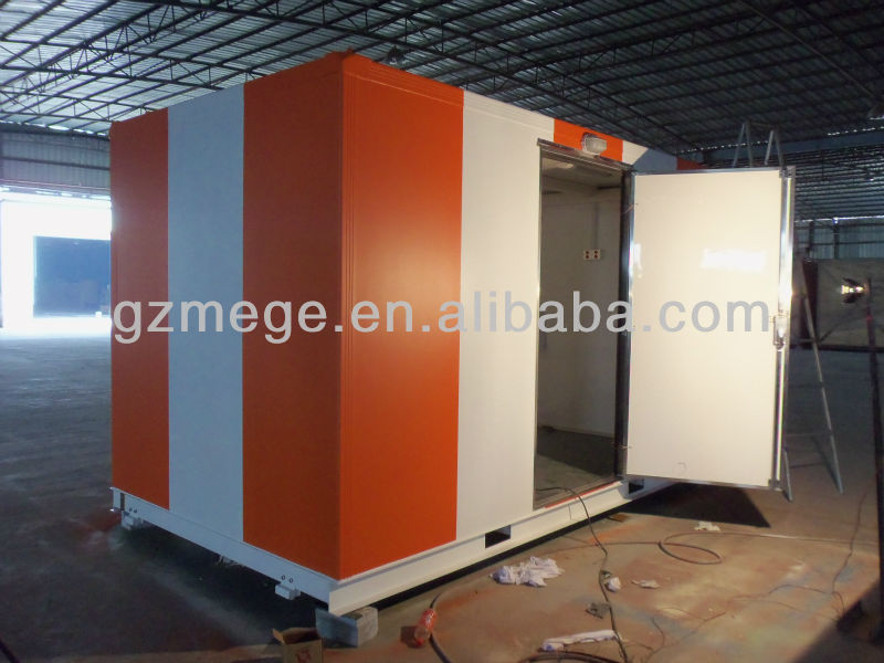 Steel structure PU insulated FRP container house