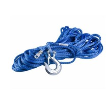 2017 new trend uhmwpe synthetic winch rope with thimble hook and jacket