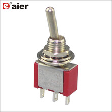 MTS-103 6A 125V SPDT 3Pin 3-Way Miniature Toggle Switch ON-OFF-ON