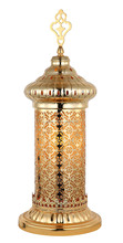 Hot sale hollowed-out Moroccan iron table lamp