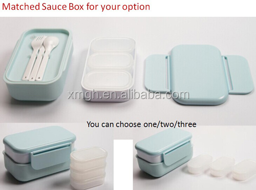Microwavable Bento Box for School Children, Food Grade PP Material 1200ml One or Two layers for choose
