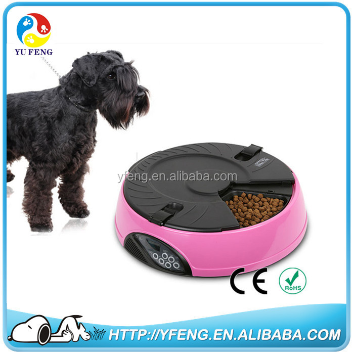 Hot Sale 6 meal Dog cat Automatic Feeder Utensils Bowl Cat Drinking Fountain Food