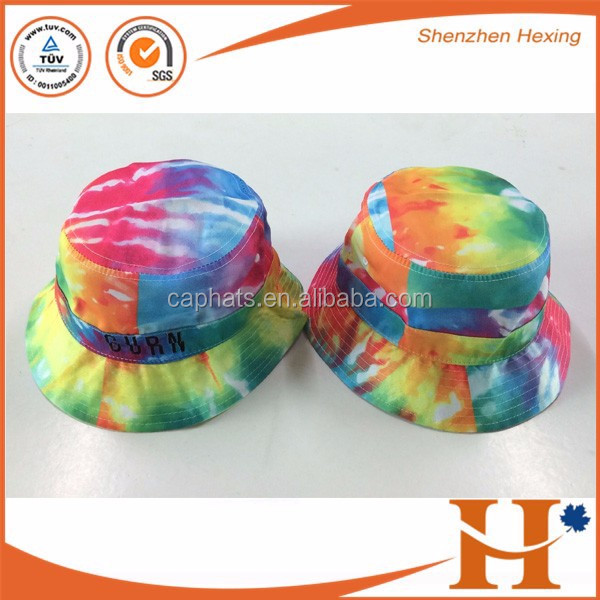 Custom high quality wholesale cap all over print bucket hat with embroidery logo