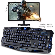 2017 Amazon USA Best seller M200 custom logo Cheap price 104 keys wired 3 color LED backlit backlight waterproof gaming keyboard