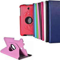lichee pattern 360 degree rotation dormancy flip leather tablet case for Asus ME176