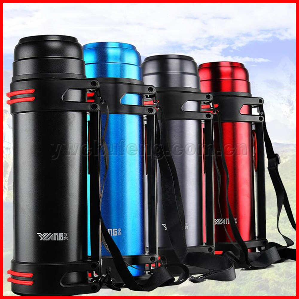 Wholesale Stainless steel double wall 2.2 liter large capacity travel and sport vacuum insulated bottle