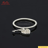 locket and key wedding band promise ring