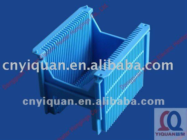 high quality 25 pieces/156*156 PVDF solar wafer carrier/cassette