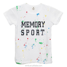 Breathable silk printing girls children tshirts