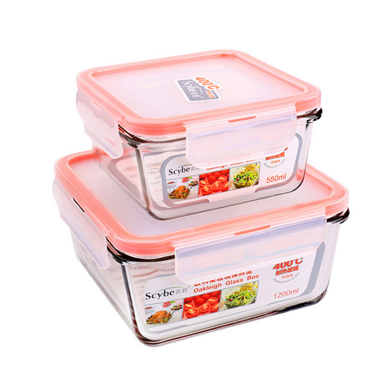Heat Resistance heat resistant air tight glass food storage container