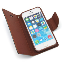 WHOLE SALE!!! colorful leather wallet case for iphone 5 5g 5s case