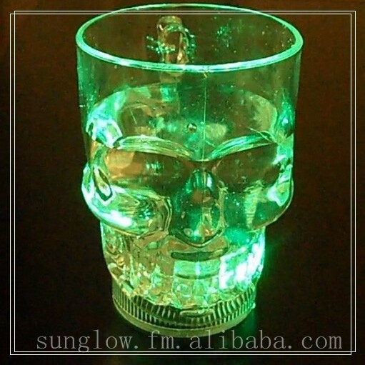 for party color changing custom skull beer led flash cup
