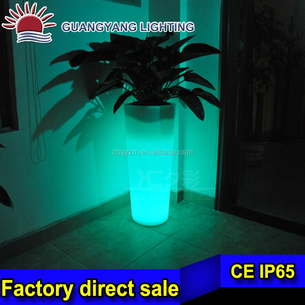 modern plastic solar illuminated planter led vase