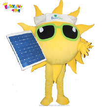 Enjoyment CE customize sun mascot costume for adult sunshine costume with fan